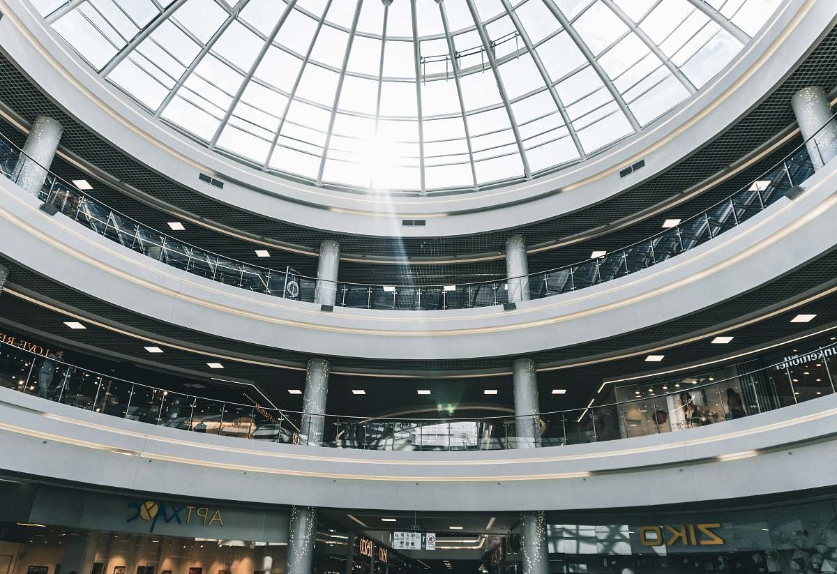 stock photos free  of building people walking inside building with dome roof window