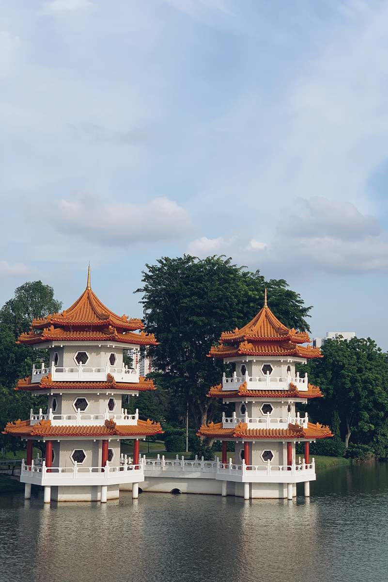 stock photos free  of pagoda white-and-brown concrete temples on water temple