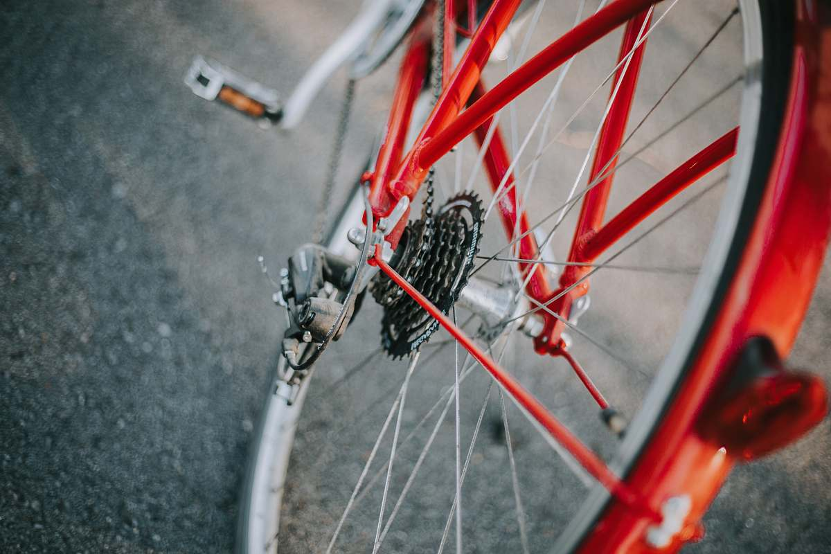 stock photos free  of bicycle selective focus photography of red and gray bicycle transportation