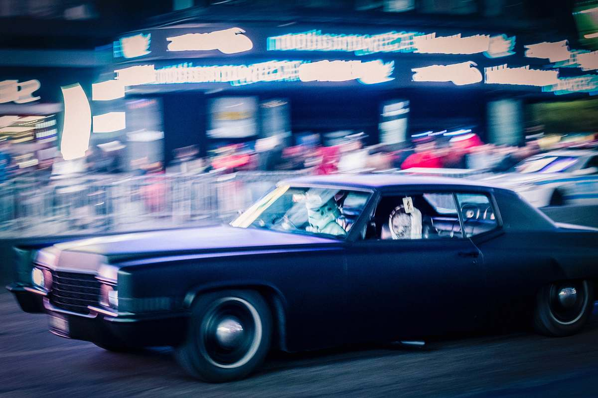 stock photos free  of transportation panning photo of purple car on road automobile