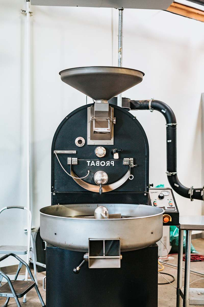 stock photos free  of chair black and gray Probat industrial mixer coffee
