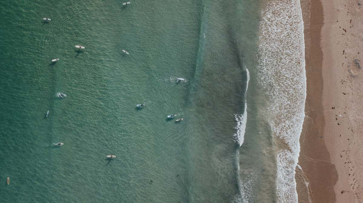 stock photos free  of cardigan aerial view of blue body of water clothing