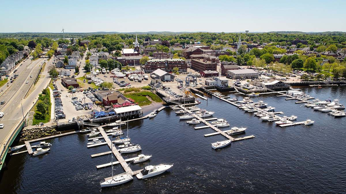 stock photos free  of marina white and brown docking site aerial view landscape