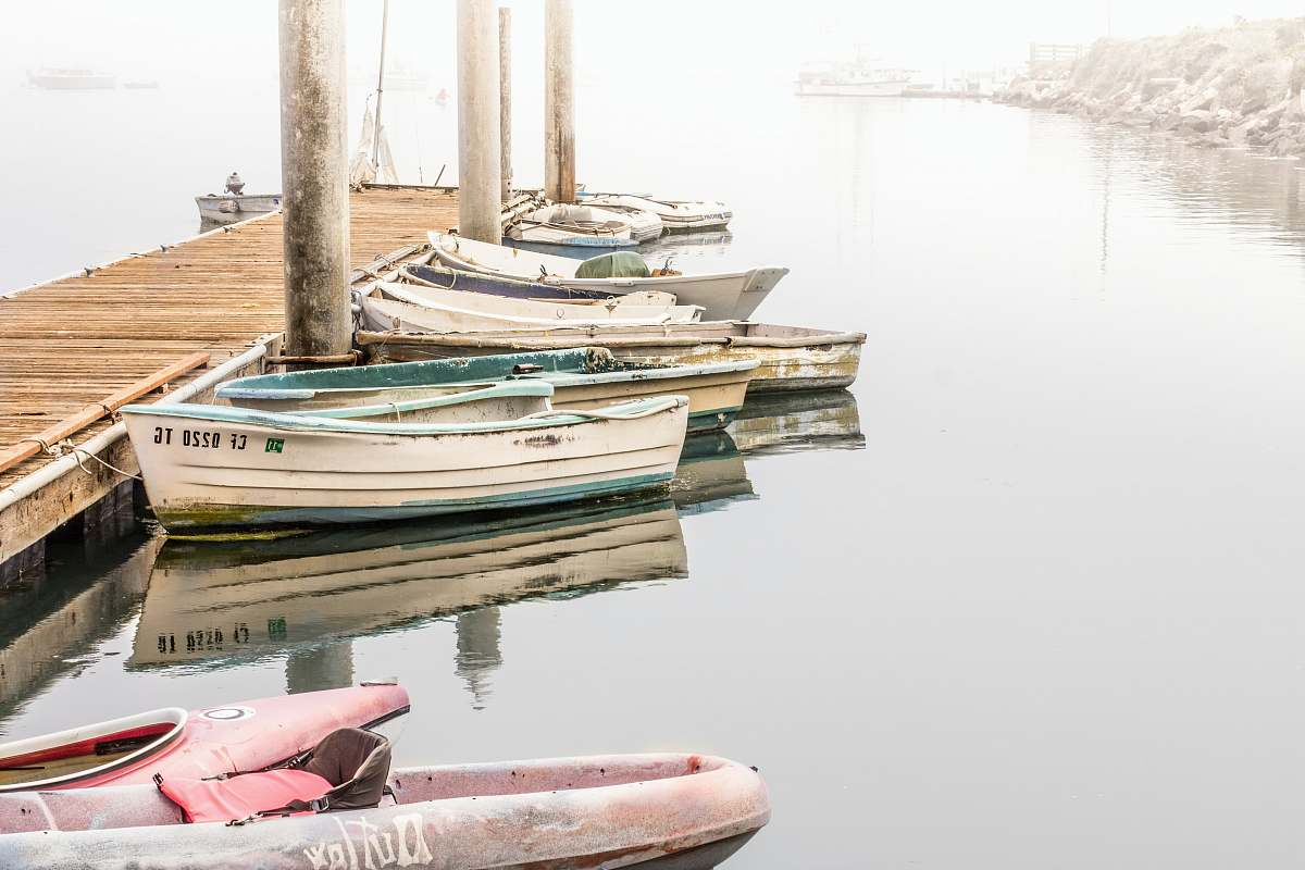 stock photos free  of vehicle kayak and boats beside wooden dock vessel