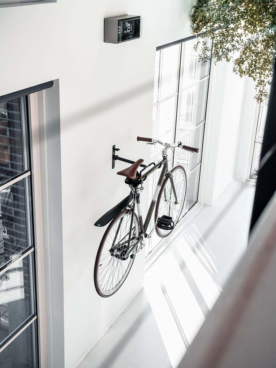 stock photos free  of bike black city bike mounted in wall bicycle