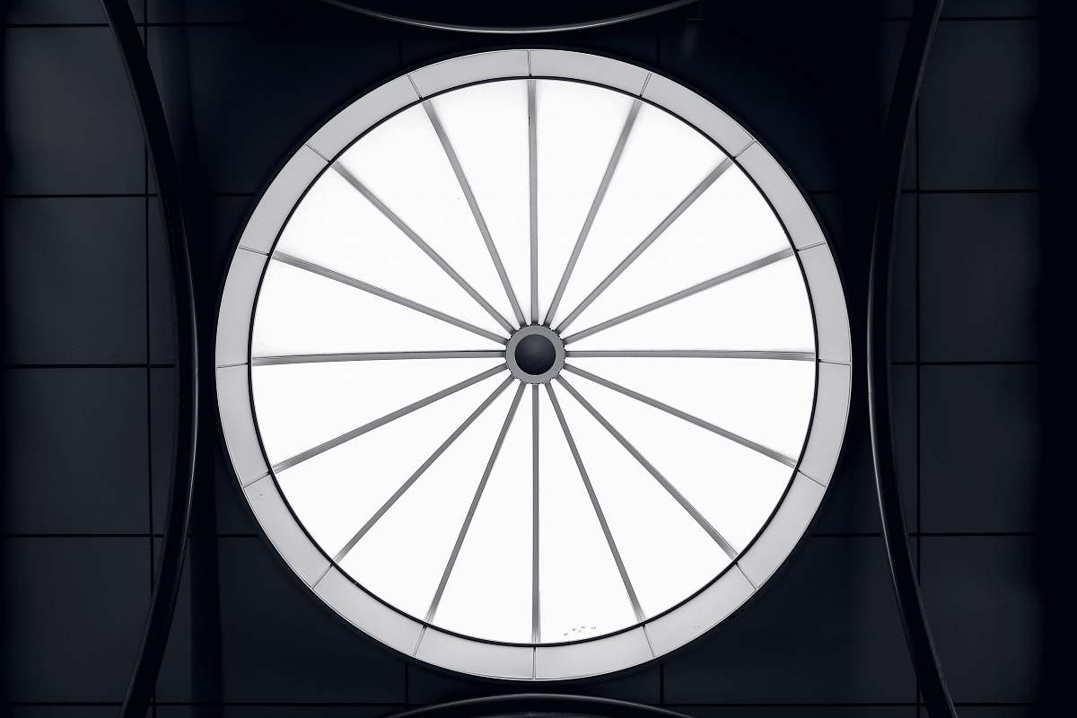 stock photos free  of building round white and gray wheel illustration skylight