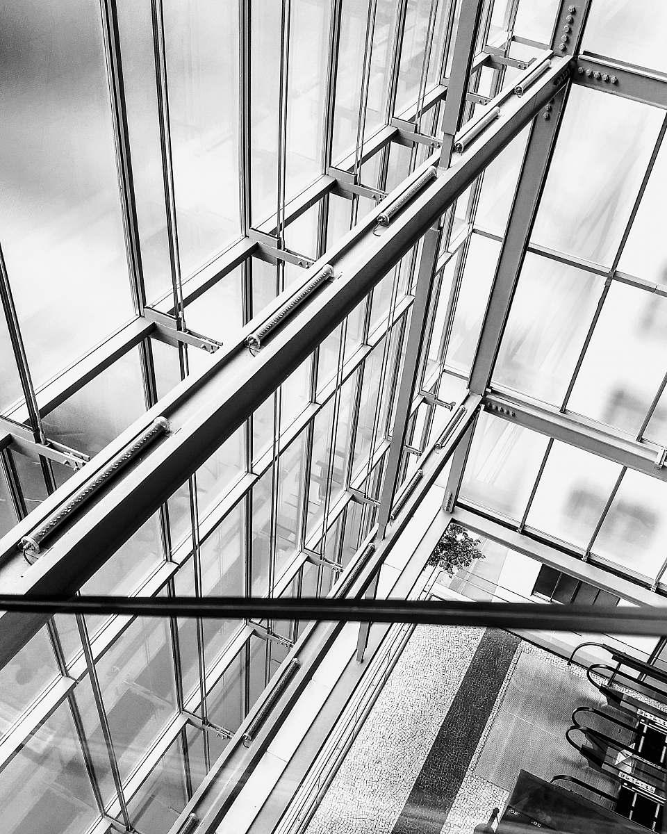 stock photos free  of banister gray metal frame handrail