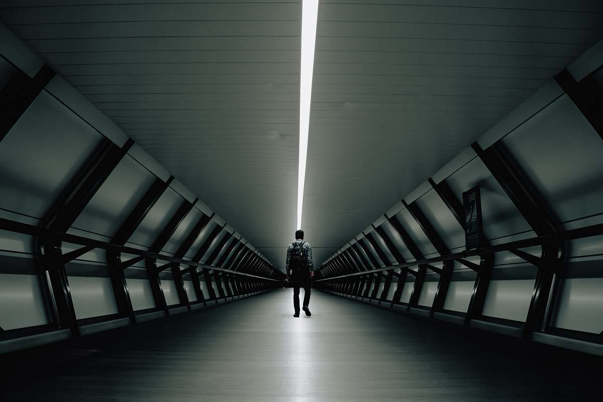 stock photos free  of chair man walking inside tunnel furniture