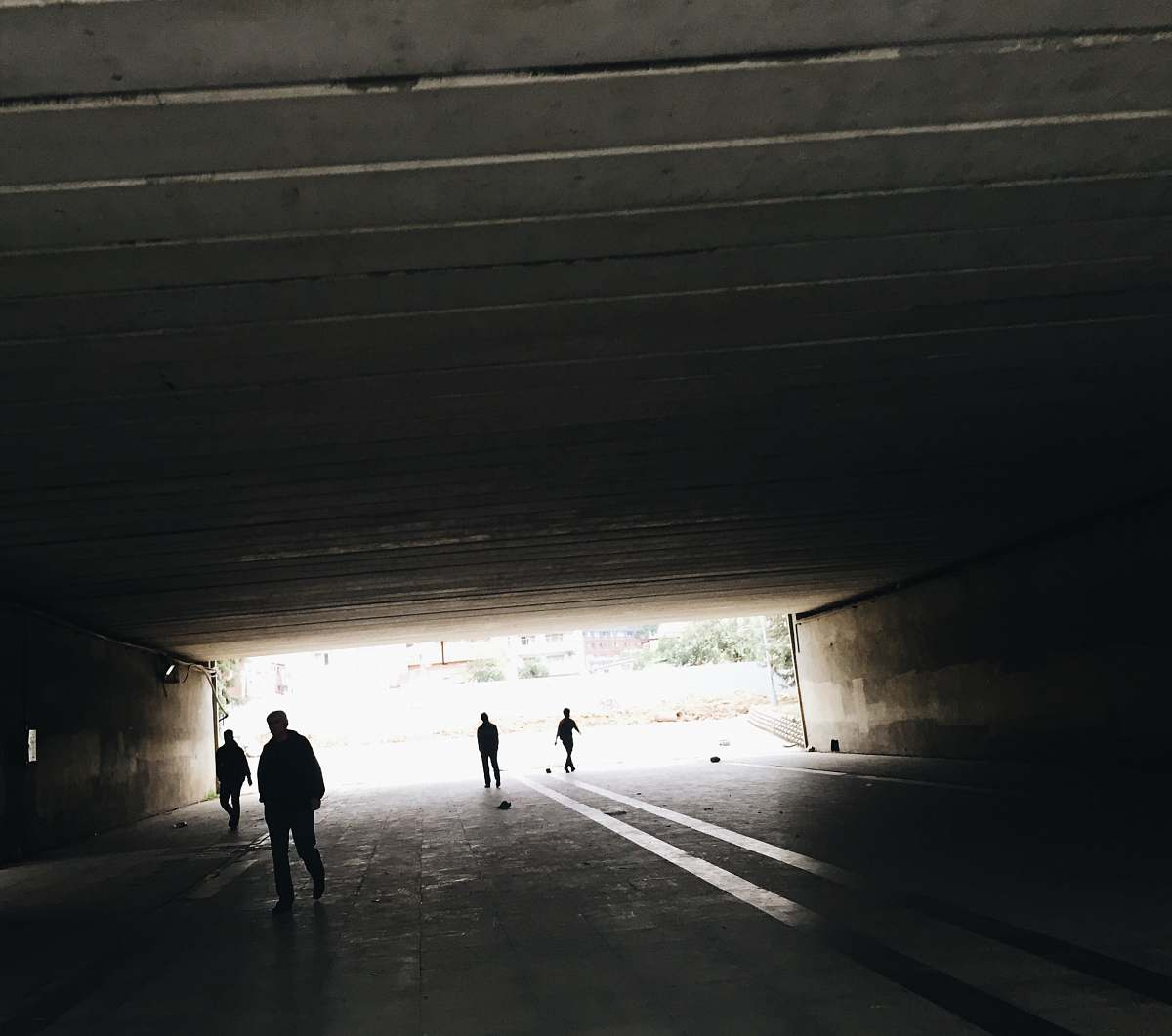 stock photos free  of person silhouette of person standing on tunnel tunnel