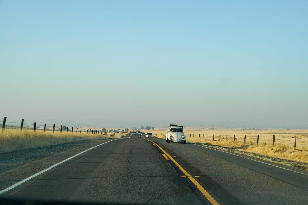 stock photos free  of freeway white car on concrete road highway