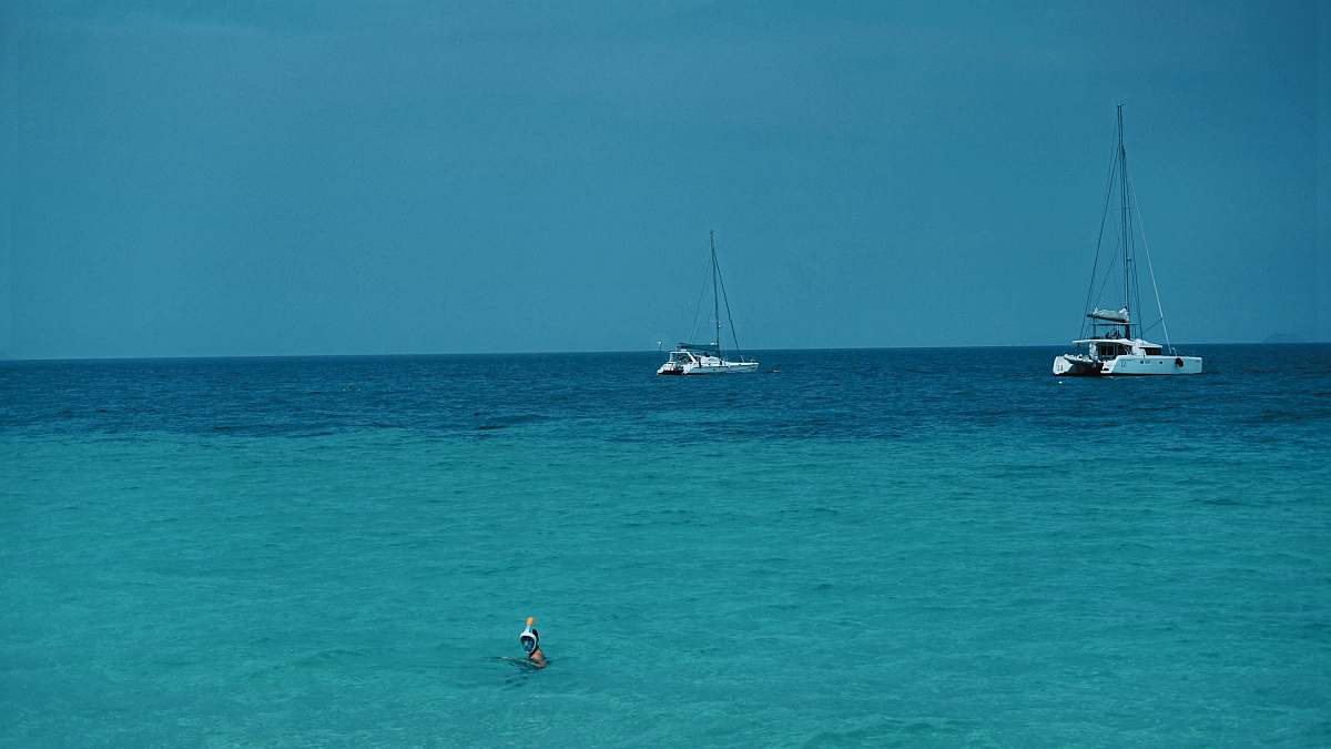 stock photos free  of transportation blue waters and white sailing boats vehicle