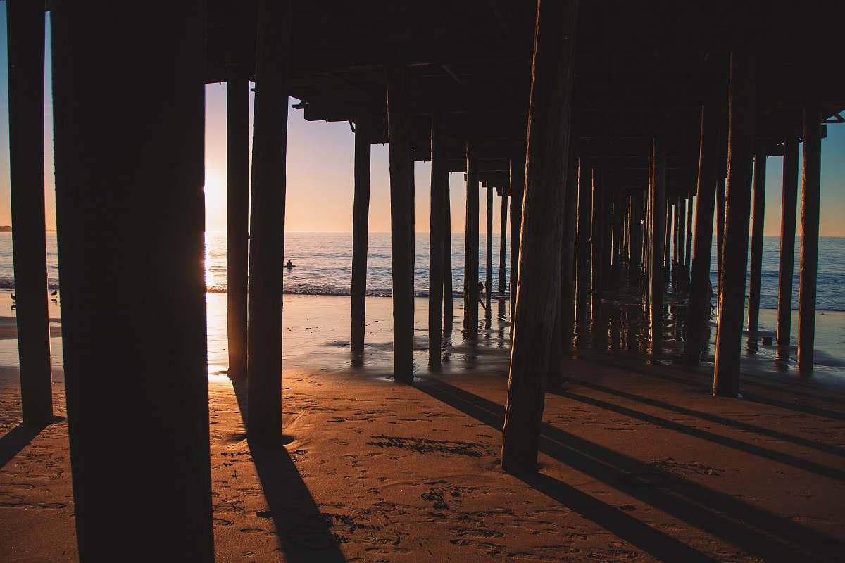 stock photos free  of pier silhouette photo of sea dock dock