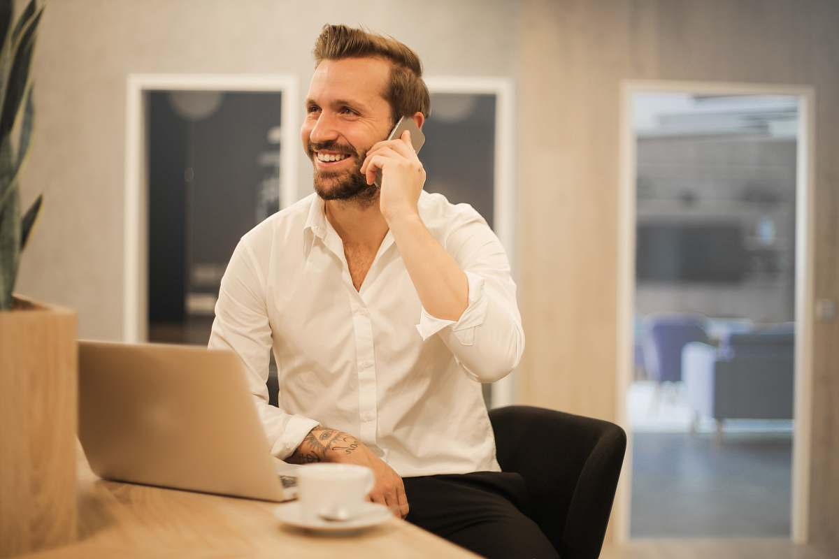 stock photos free  of human man using smartphone on chair person