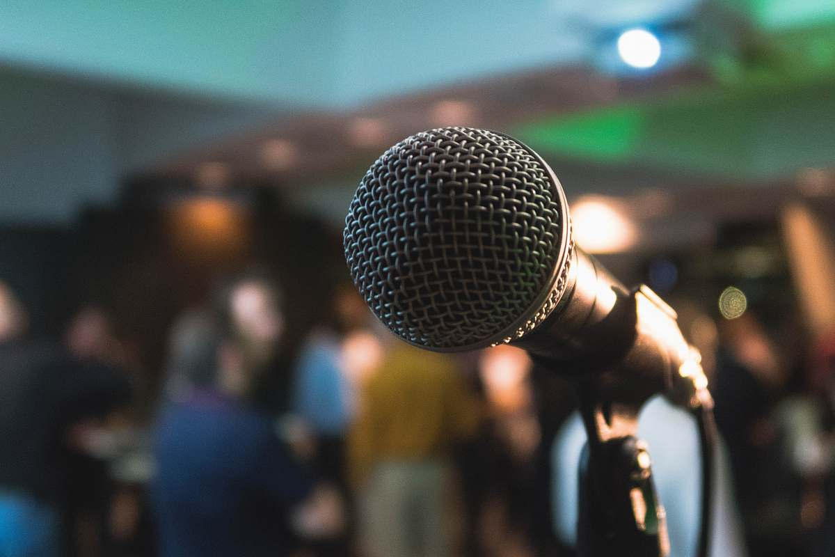 stock photos free  of human silver corded microphone in shallow focus photography microphone