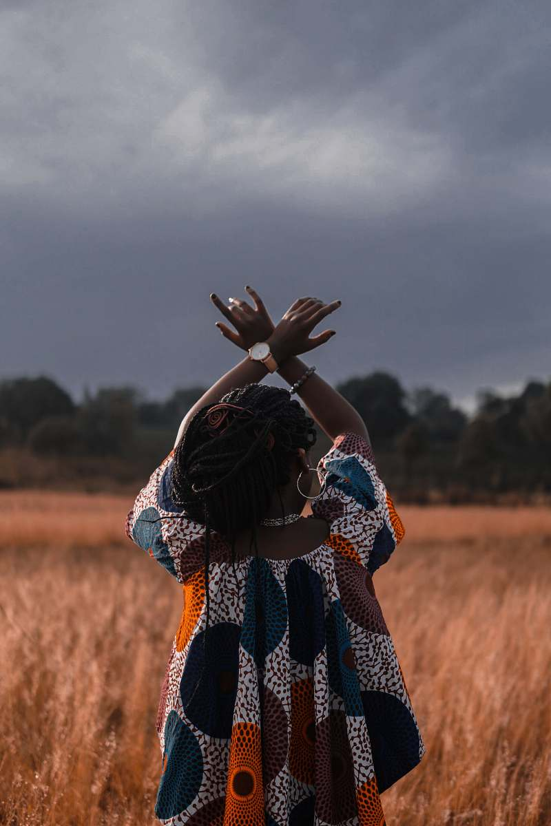 stock photos free  of person woman standing in the middle of wheat field woman