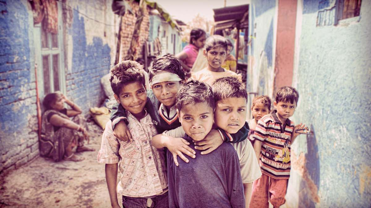 stock photos free  of people group of children nearby house human