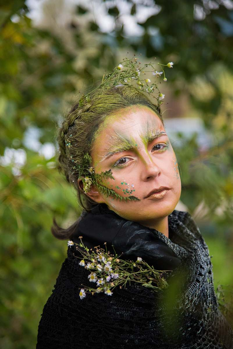 stock photos free  of human selective focus photo of woman with nature-themed makeup people