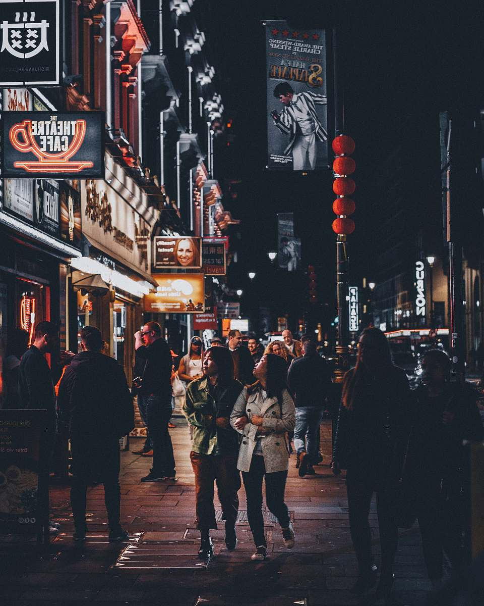stock photos free  of people two women standing near theatre cafe human