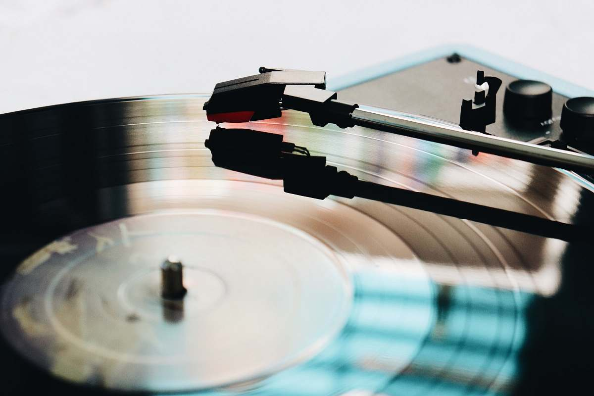 Cup Close Up Photography Of Black Turntable Coffee Table Image Free Stock Photo