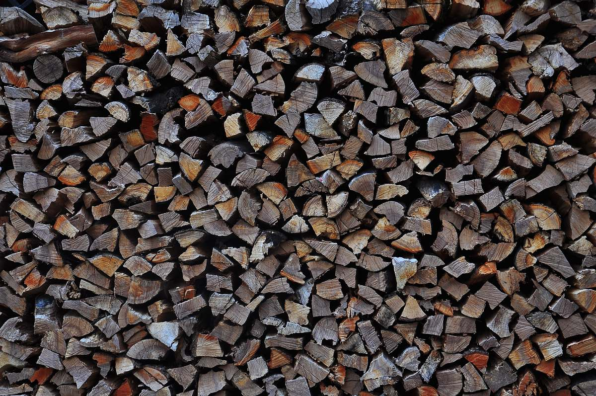 stock photos free  of pebble filed gray firewoods pile