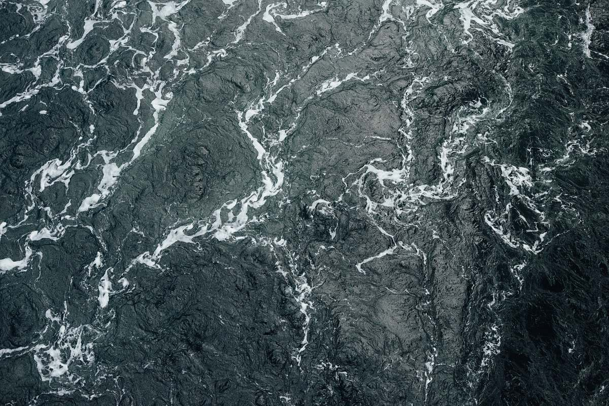 stock photos free  of texture A drone shot of the choppy surface of the sea grey