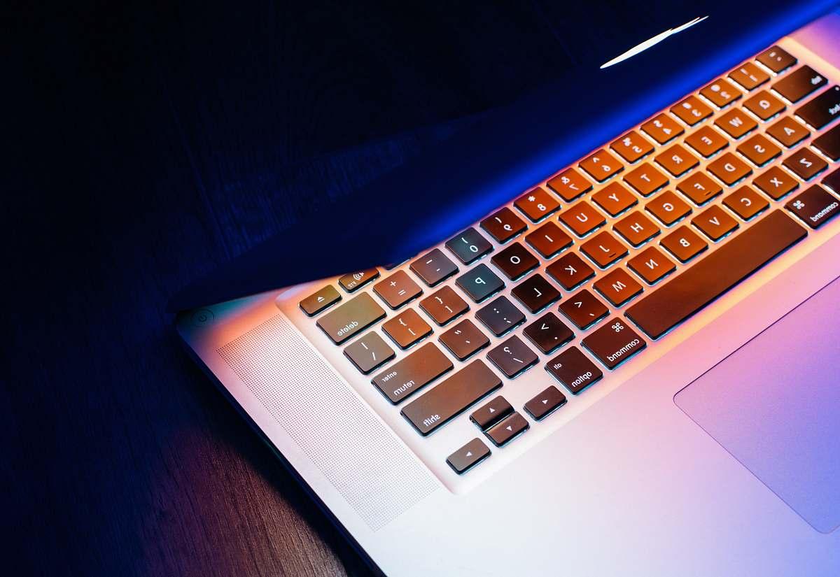 stock photos free  of computer silver MacBook keyboard