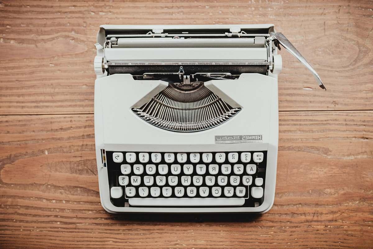 stock photos free  of keyboard white and black typewriter on table machine