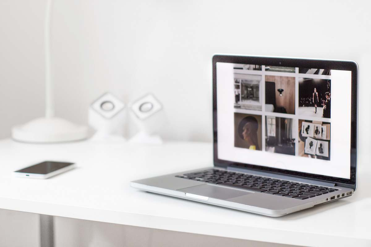 stock photos free  of laptop turned on MacBook Pro on table computer