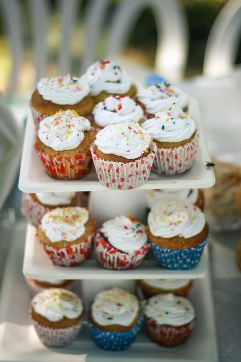stock photos free  of cream cupcake tier dessert