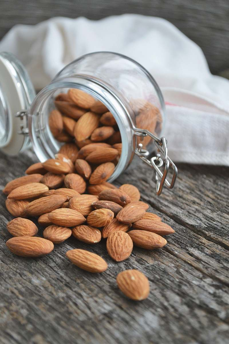 stock photos free  of nut close up photo of Almonds almond