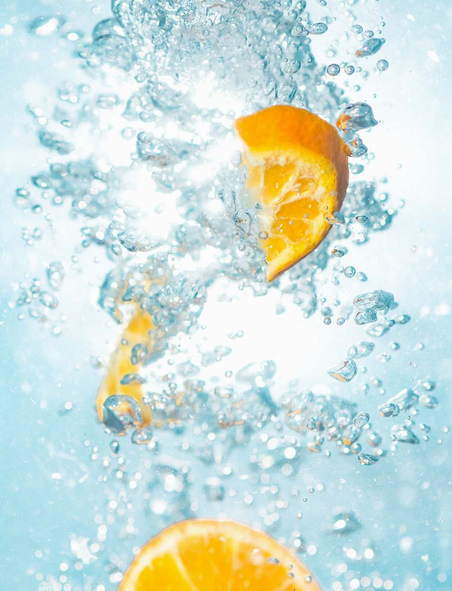 stock photos free  of fruit sliced orange fruits underwater drink