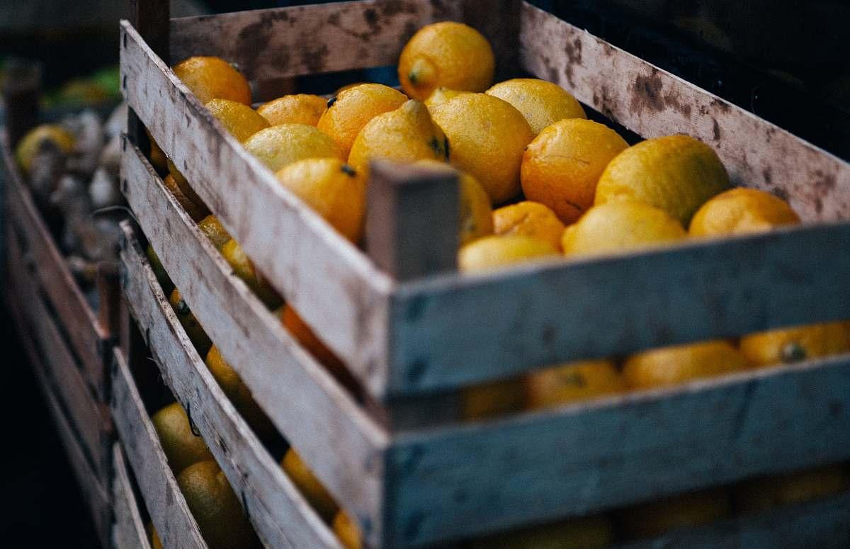 stock photos free  of food box of limes orange