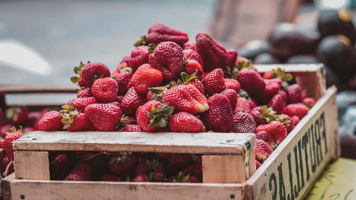 stock photos free  of food selective focus photo of bunch of strawberries strawberry