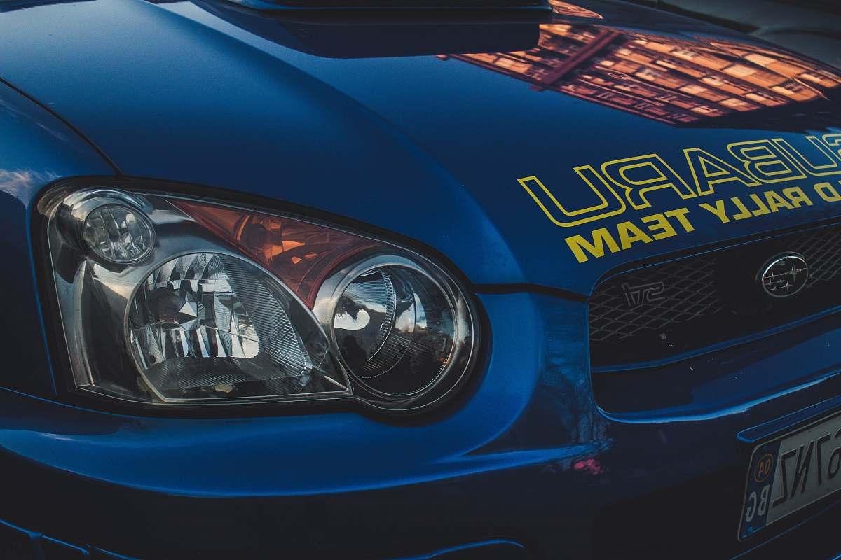 stock photos free  of car blue Subaru car automobile
