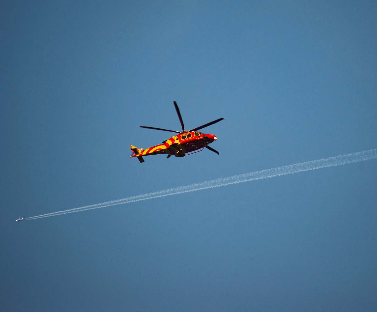 stock photos free  of transportation red and yellow helicopter aircraft