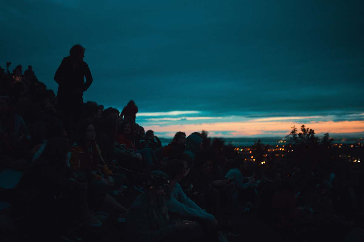 stock photos free  of person silhouette photo of people on top of the mountain people
