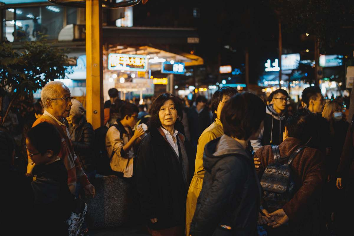 stock photos free  of person group of people gathering on street during night time human
