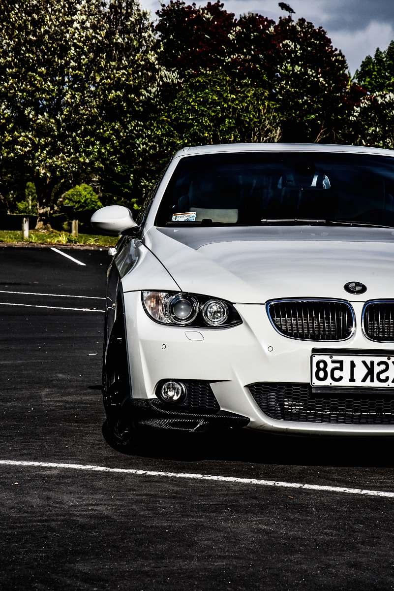stock photos free  of car white BMW car automobile