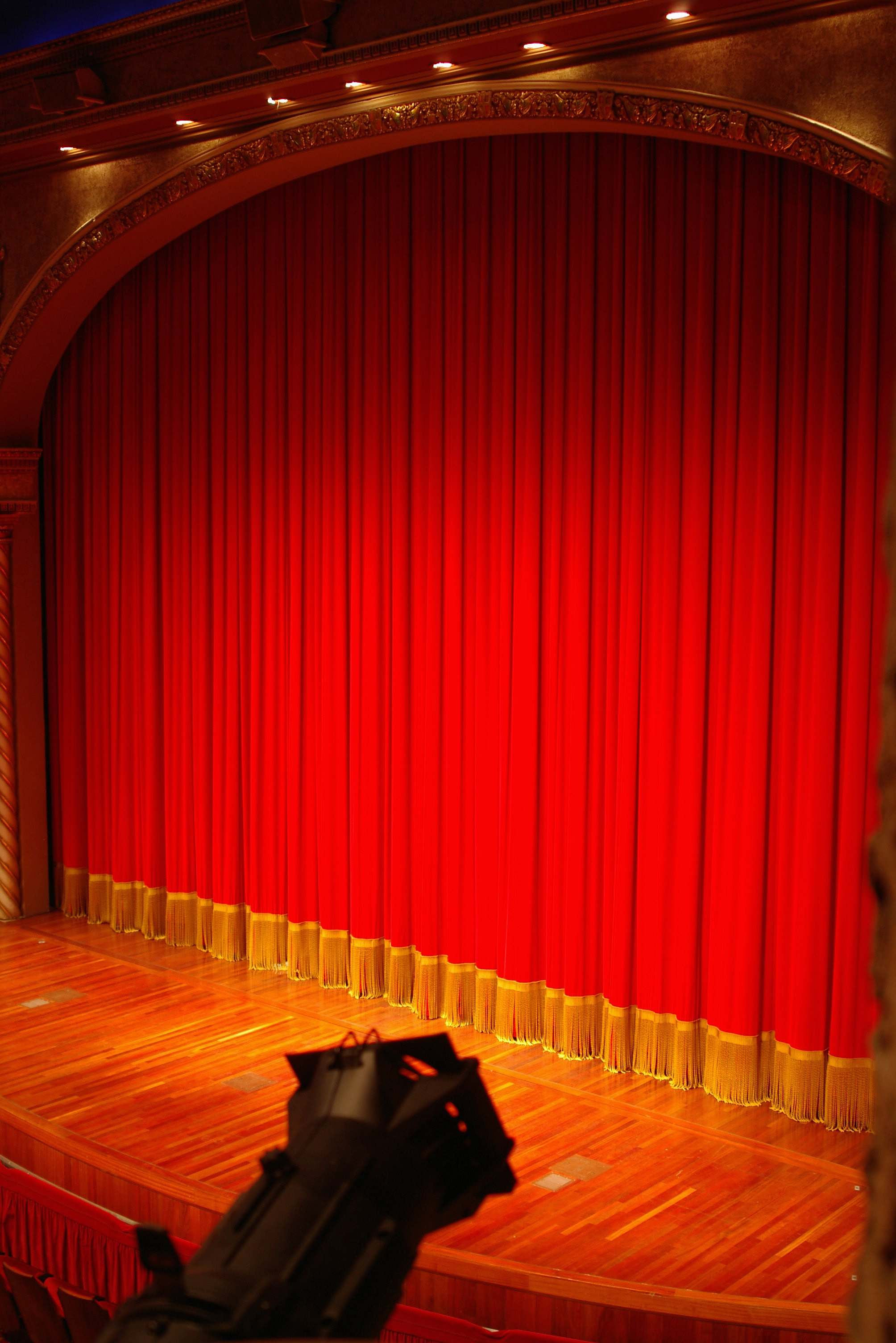 Interior Design Red Theater Curtain Indoors Image