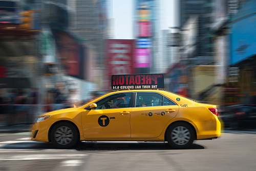 photo car yellow sedan cab free for commercial use images