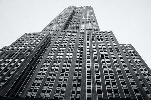 architecture low-angle photography of high rise building building