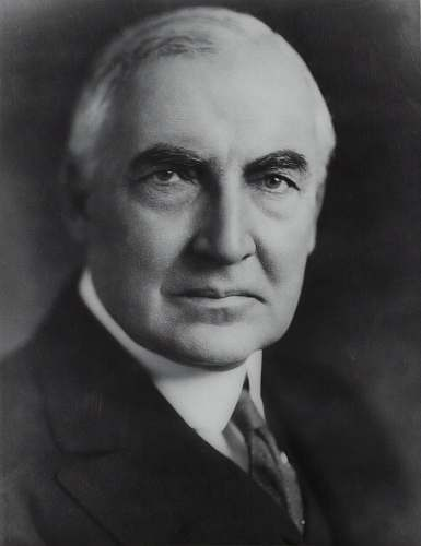 face Senator Warren G. Harding head