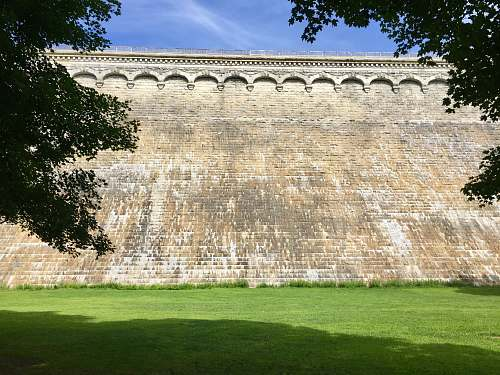architecture concrete wall at the garden castle