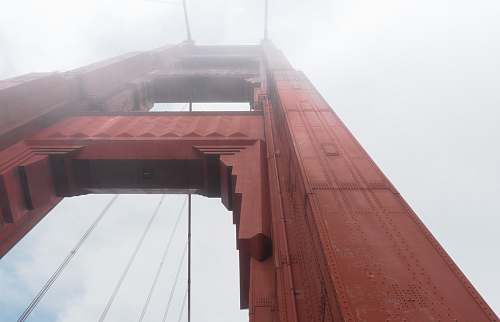bridge red concrete building san francisco