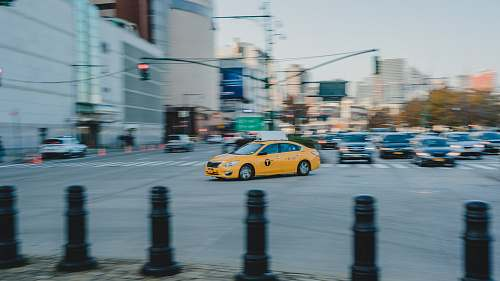 photo car yellow car crossing taxi free for commercial use images