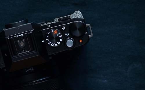 electronics black DSLR camera digital camera