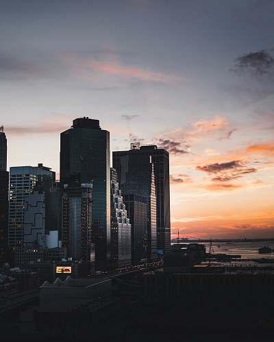 architecture photo of cityscape during golden hour skyscraper
