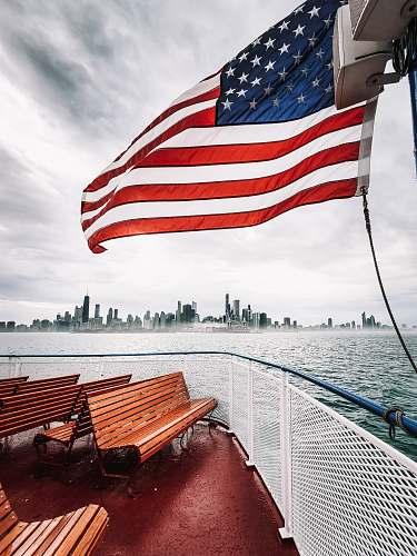 symbol waving US flag chicago
