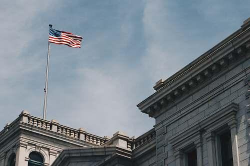 flag American Flag on building charleston