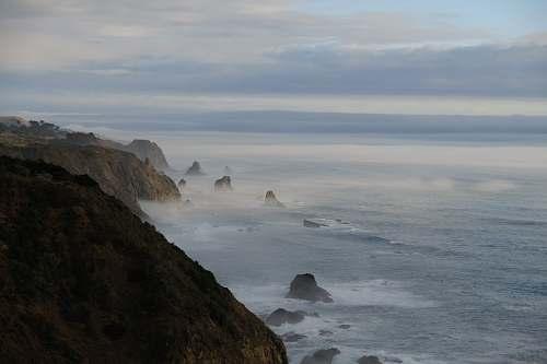 cliff cliff near sea sea